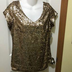 Nipón Boutique Gold sequin Sz Medium